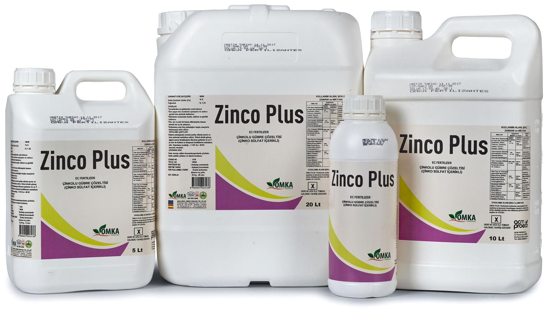 Zinco Plus Gübre Çözeltisi